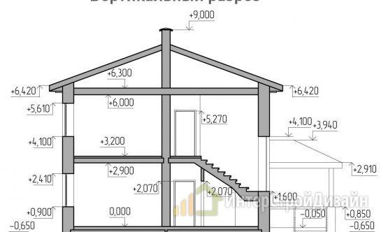 Двухэтажный дом из керамических блоков 173 м²