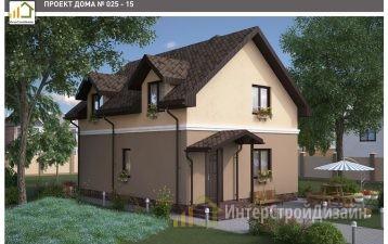 Двухэтажный дом из газобетонных блоков 129 м²