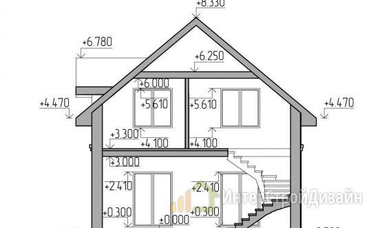 Строительство 2х этажного дома из газобетонных блоков 129м²