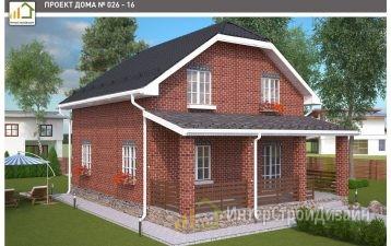 Строительство 2х этажного дома из газобетонных блоков 141м²
