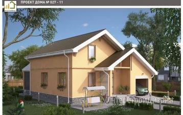 Двухэтажный дом из керамзитобетонных блоков и кирпича с гаражом 147 м²