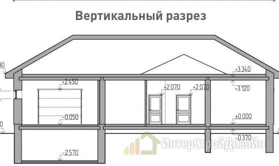 Строительство одноэтажного дома из газобетонных блоков 225м²