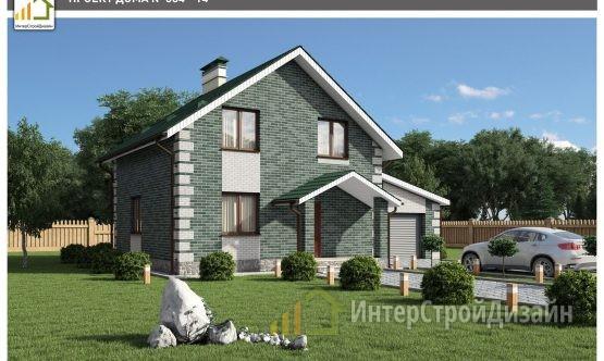Строительство 2х этажного дома из керамических блоков 122м²