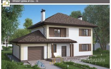 Двухэтажный дом из керамических блоков с гаражом 217 м²