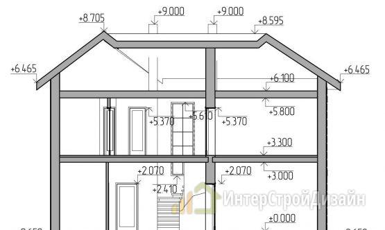 Строительство 2х этажного дома из газобетонных блоков 148м²