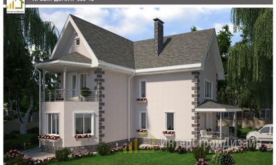 Строительство 2х этажного дома из газобетонных блоков 123м²