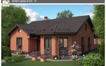 Одноэтажный дом из газобетонных блоков 132 м²