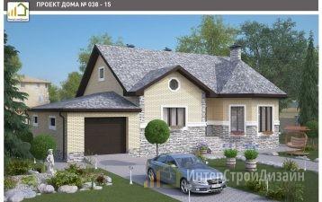 Одноэтажный дом из керамических блоков с гаражом 244 м²
