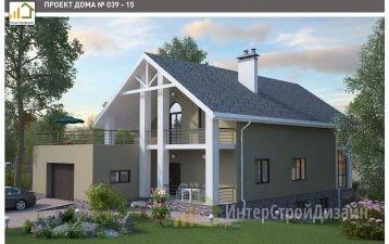 Двухэтажный дом из керамических блоков с гаражом 315 м²