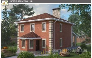Двухэтажный дом из силикатного кирпича 167 м²