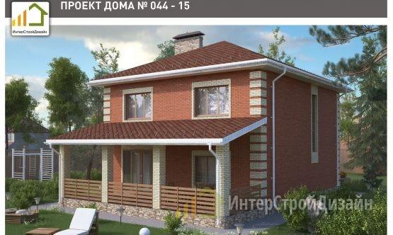Строительство 2х этажного дома из силикатного кирпича 167м²