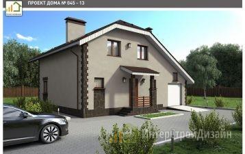 Дом из газобетонных блоков и кирпича двухэтажный 181 м²