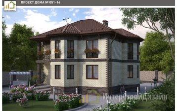 Строительство 2х этажного дома из керамических блоков 248м²
