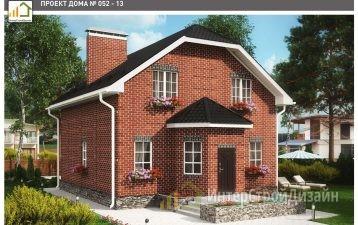 Двухэтажный дом из газобетонных блоков и кирпича 134 м²