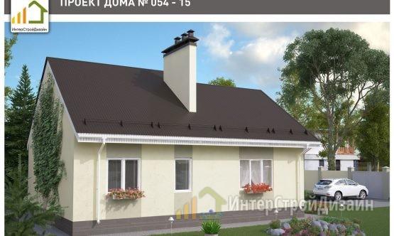 Строительство одноэтажного дома из керамзитобетонных блоков 93м²