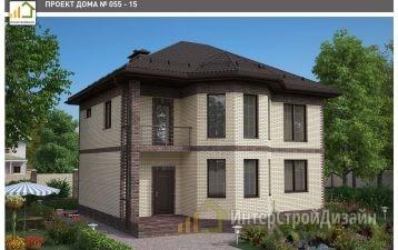 Строительство 2х этажного дома из газобетонных блоков 162м²