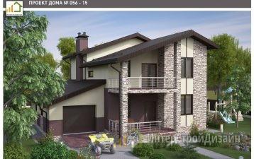 Строительство 2х этажного дома из газобетонных блоков 238м²