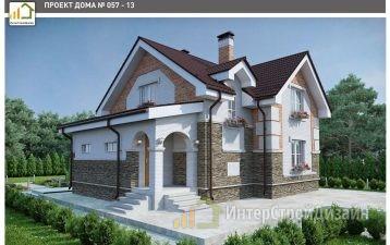 Двухэтажный дом из кирпича 150 м²
