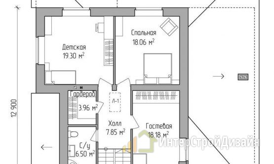 Строительство 2х этажного дома из газобетонных блоков 219м²