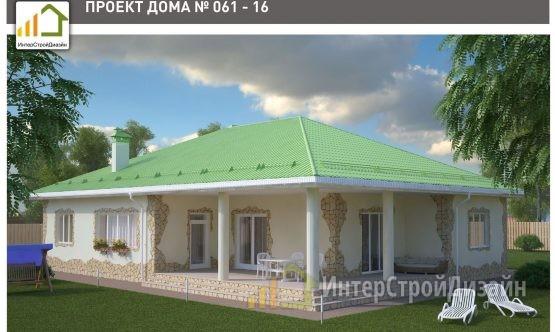 Строительство одноэтажного дома из газобетонных блоков 192м²