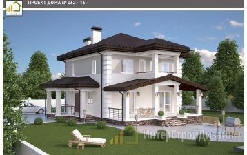 Двухэтажный дом из керамзитобетонных блоков и кирпича 153 м²