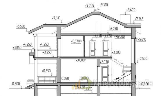 Строительство 2х этажного дома из керамзитобетонных блоков 153м²