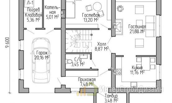 Строительство 2х этажного дома из газобетонных блоков 167м²