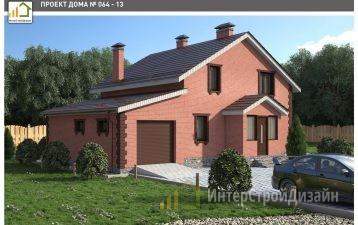 Двухэтажный дом из газобетонных блоков 167 м²