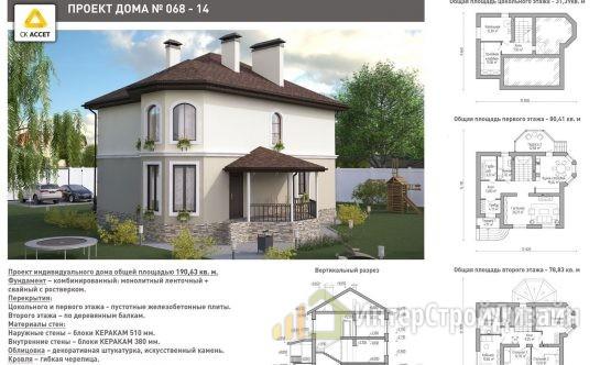 Строительство 2х этажного дома из керамических блоков 191м²