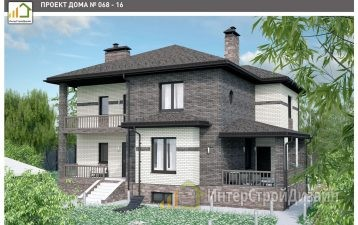 Двухэтажный дом из керамических блоков 365 м²