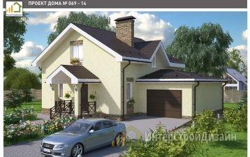 Двухэтажный дом из газобетонных блоков с гаражом 165 м²