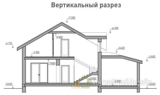 Строительство 2х этажного дома из газобетонных блоков 165м²