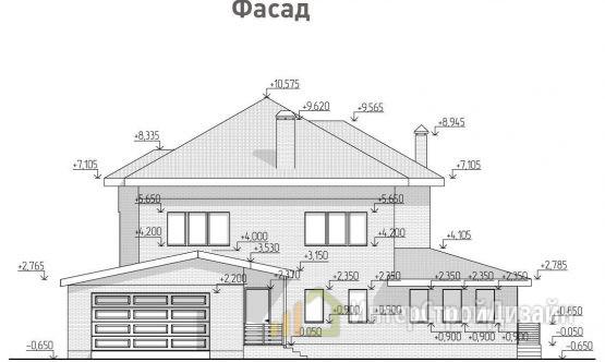 Строительство 2х этажного дома из керамических блоков 298м²