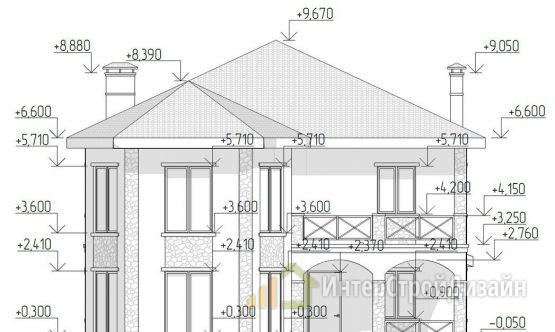 Строительство 2х этажного дома из пеноблоков 268м²