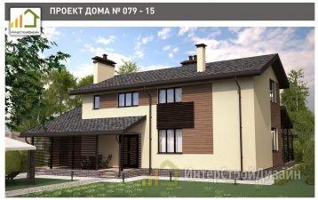 Двухэтажный дом из газобетонных блоков и кирпича 165 м²