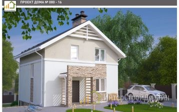 Двухэтажный дом из керамических блоков 100 м²