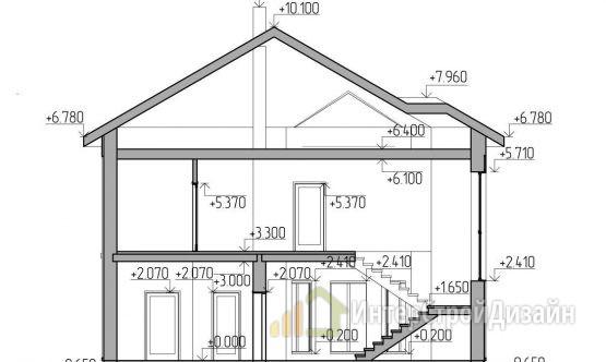 Строительство 2х этажного дома из газобетонных блоков 195м²