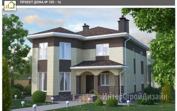 Строительство 2х этажного дома из газобетонных блоков 279м²