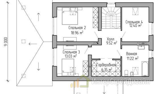 Двухэтажный дом из газобетонных блоков и кирпича 161 м²